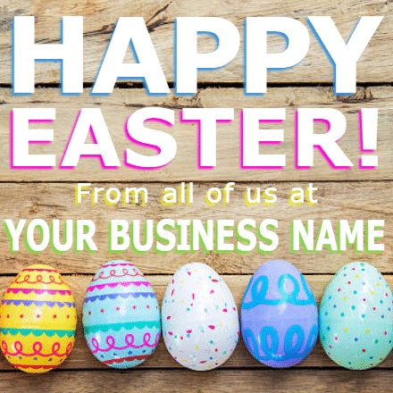 Customize Your Own Easter Banners - Business Name Template - Custom Graphix