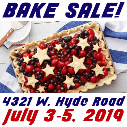 4th Of July Banners Cake Sale Template Custom Graphix