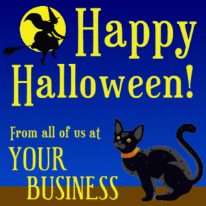 Customize Your Own Halloween Banners - Witch Template - Custom Graphix