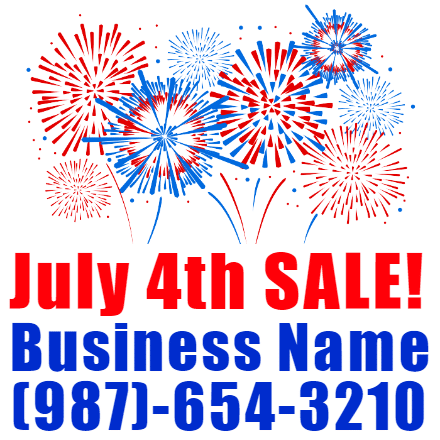 Customize Your Own 4th of July Banners - Business Name Template - Custom Graphix