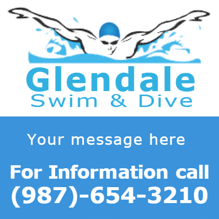 Customize Your Own Swimming Banners - Swim Promo Template - Custom Graphix