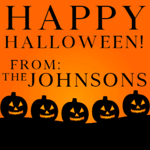 Customize Your Own Halloween Banners - Pumpkins Template - Custom Graphix