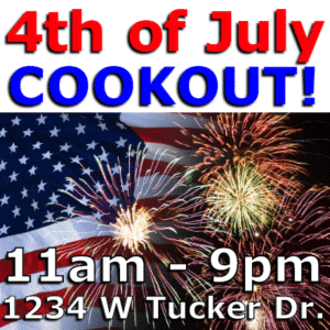 Customize Your Own 4th of July Banners - Fireworks Template - Custom Graphix