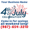 Customize Your Own 4th of July Banners - Business Template - Custom Graphix