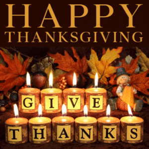 Customize Your Own Thanksgiving Banners - Candlelight Template - Custom Graphix
