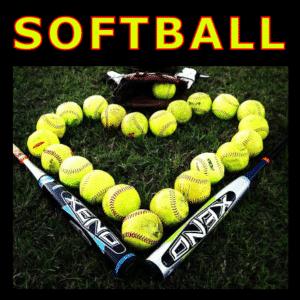 Customize Your Own Softball Banners - Heart Ball Template - Custom Graphix