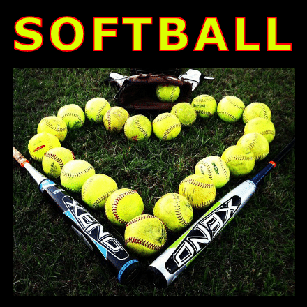 Customize Your Own Softball Banners - Heart Ball Template - Custom Graphix