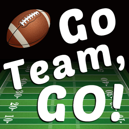 Customize Your Own Football Banners - Go Team Go Template - Custom Graphix