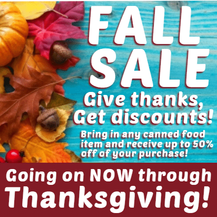 Customize Your Own Thanksgiving Banners - Sale Template - Custom Graphix