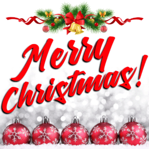 Customize Your Own Christmas Banners - Red Ball Template - Custom Graphix