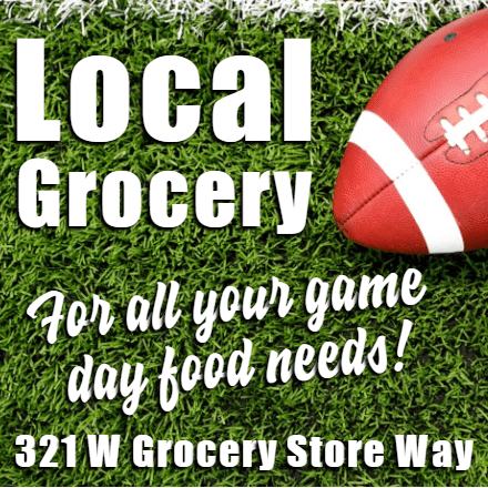 Customize Your Own Football Banners - Local Grocery Template - Custom Graphix