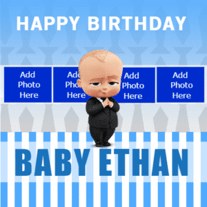 Birthday Banner - Boss Baby Template - Custom Graphix