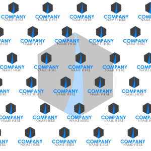 8ft x 8ft Backdrop Banner - Company Name Template - Custom Graphix