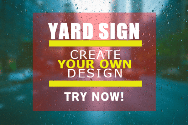 24″ x 18″ Yard Sign - Try Now Template - Custom Graphix
