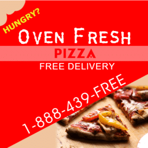 Magnetic Sign - Oven Fresh Pizza Template - Custom Graphix