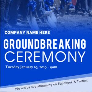 Advertising Banner - Groundbreaking Ceremony Template - Custom Graphix