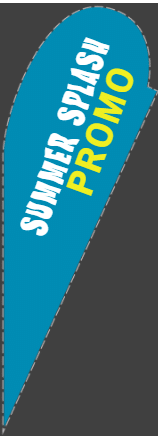 Tear Shaped Flags - Summer Promo Template - Custom Graphix