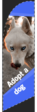 Feather Flags - Adopt-a-Dog Template - Custom Graphix