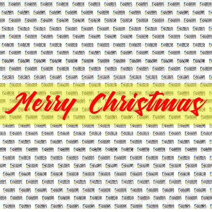 8ft x 8ft Backdrop Banner - Merry Christmas Template - Custom Graphix