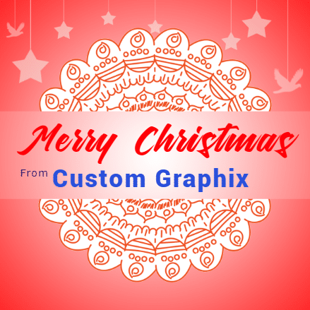 Christmas Banner - Company Greetings Template - Custom Graphix