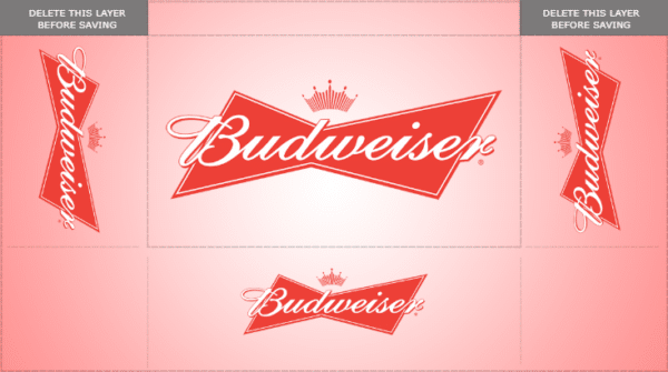 6 ft 3 Sided Table Cover - Budweiser Beer Template - Custom Graphix
