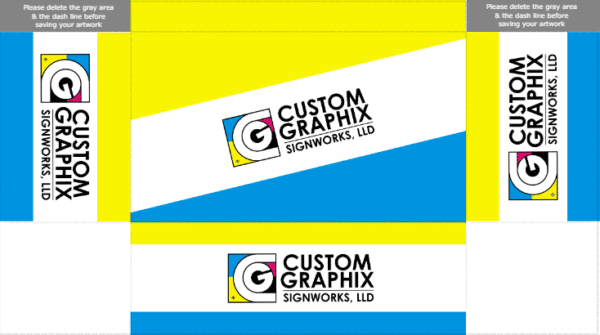 6 ft 3 Sided Table Cover - Free Colorful Template - Custom Graphix