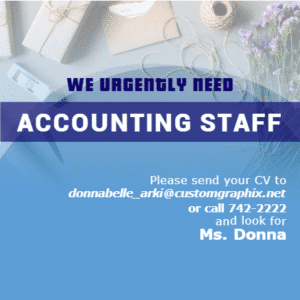 Advertising Banner - Accounting Staff Template - Custom Graphix