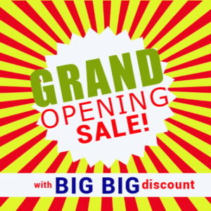 Grand Opening Banner - Big Discount - Custom Graphix