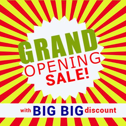 Grand Opening Banner - Big Discount - Custom Graphix