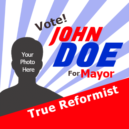 Political Banner - Mayor - Custom Graphix