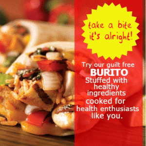 Customize Your Own Restaurant Banners - Healthy Burito Template - Custom Graphix