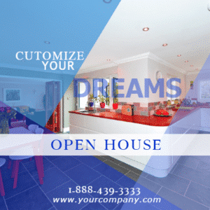 Customize Your Own Real Estate Banners - Dream House Template - Custom Graphix