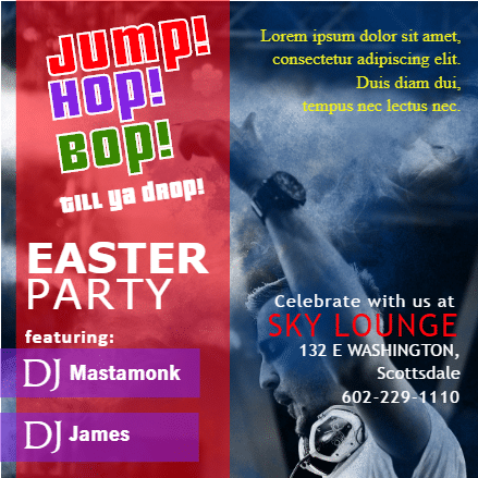 Customize Your Own Easter Banners - Easter Party Template - Custom Graphix