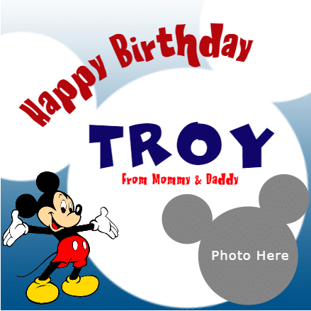 Birthday Banner - Mickey Mouse - Custom Graphix