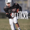 Customize Your Own Football Banners - Dream. Believe. Template - Custom Graphix
