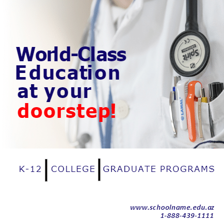 Customize Your Own School Banners - World Class Education Template - Custom Graphix