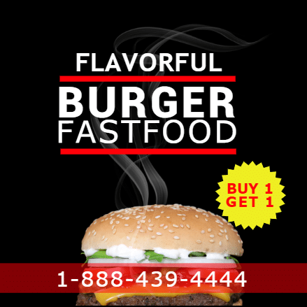 Customize Your Own Restaurant Banners - Buy 1 Get 1 Template - Custom Graphix