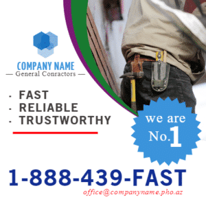 Customize Your Own Contractors Banners - Toll Free Number Template - Custom Graphix