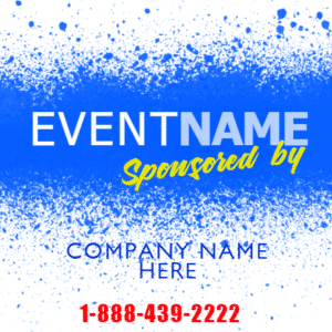 Customize Your Own Sponsor Banners - Phone Number Template - Custom Graphix