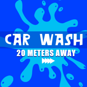 Customize Your Own Car Wash Banners - 20 Meters Away Template - Custom Graphix