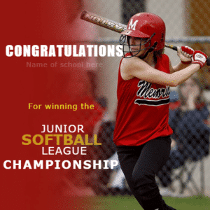 Customize Your Own Softball Banners - Junior League Template - Custom Graphix