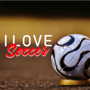 Customize Your Own Soccer Banners - I Love Soccer Template - Custom Graphix
