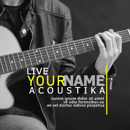Customize Your Own Professional Services Banners - Guitarist Template - Custom Graphix