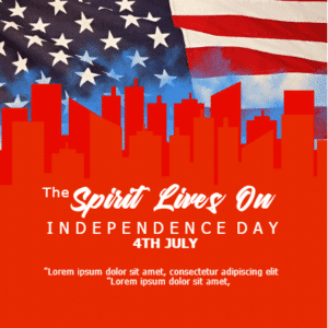 Customize Your Own 4th of July Banners - Spirit Lives On Template - Custom Graphix