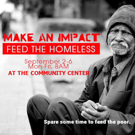 Customize Your Own Non Profit Banners - Feed Homeless Template - Custom Graphix