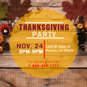 Customize Your Own Thanksgiving Banners - Party Day Template - Custom Graphix