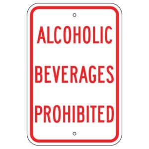 Customize Your Own Aluminum Metal Signs - Alcohol Prohibited Template - Custom Graphix
