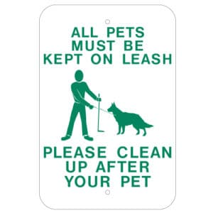 Customize Your Own Aluminum Metal Signs - Pet Leash Template - Custom Graphix