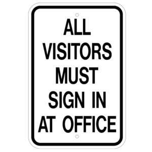 Customize Your Own Aluminum Metal Signs - Office Template - Custom Graphix