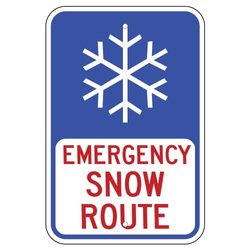 Customize Your Own Aluminum Metal Signs - Snow Route Template - Custom Graphix